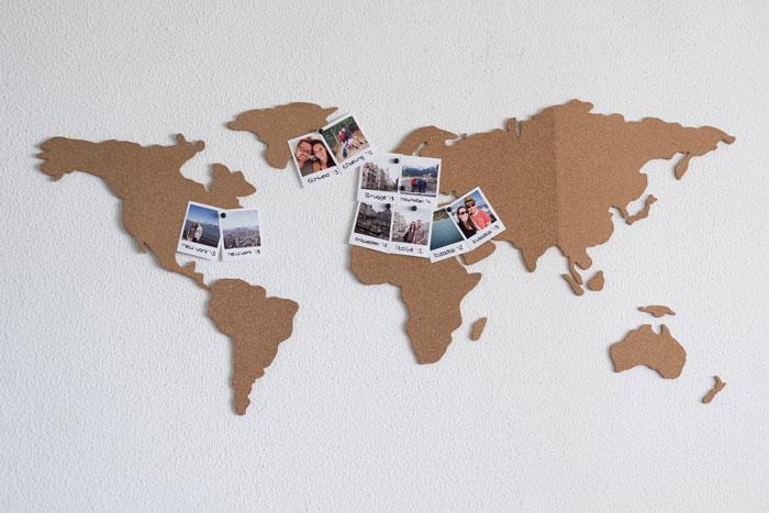 wereldkaart prikbord van luckies  het resultaat