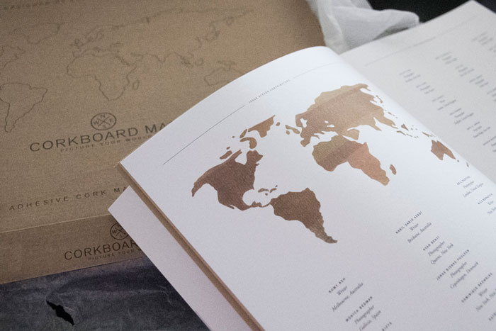 Wereldkaart prikbord van Luckies; Het resultaat