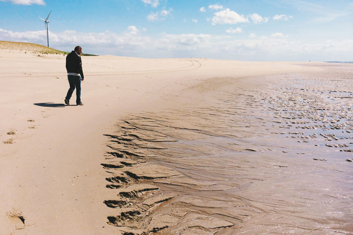 Het strand van de tweede maasvlakte