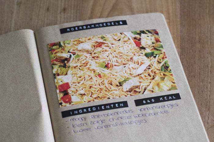 Receptenboek en wekelijkse boodschappen