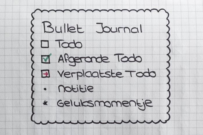 Todo lijstjes 2.0 Het Bullet Journal