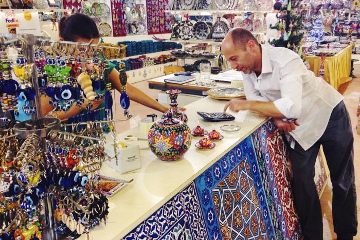 Het leuke keramiekwinkeltje in Kusadasi