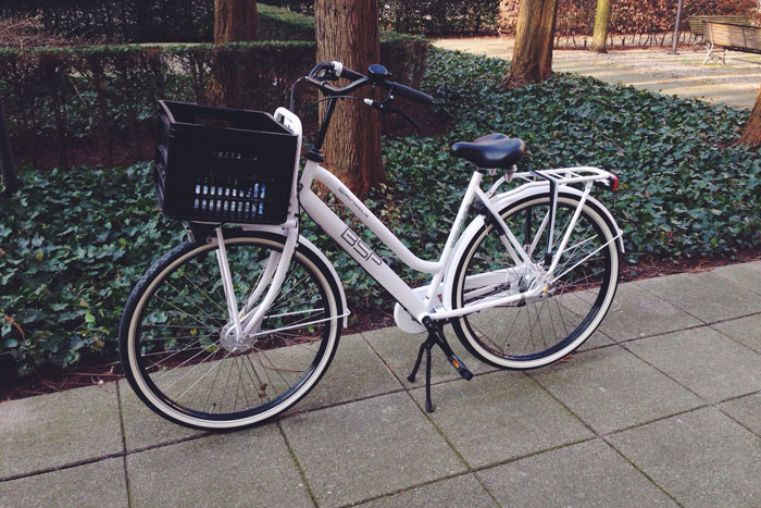 Naar werk fietsen op mijn nieuwe fiets!