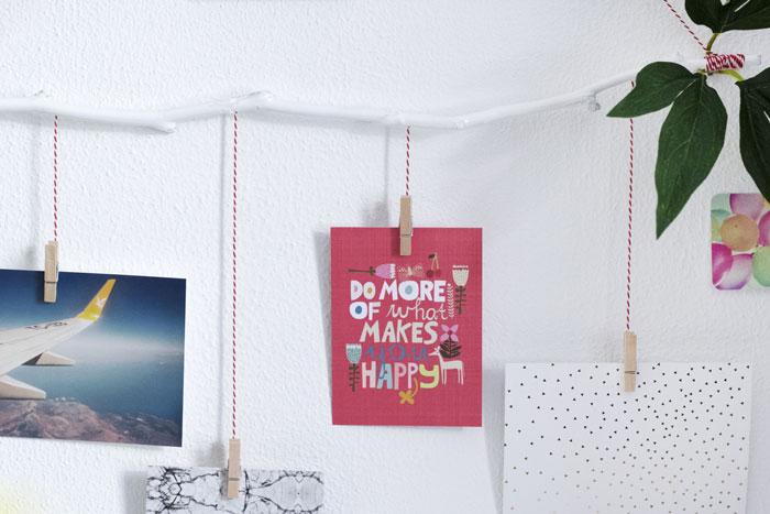 DIY; Maak zelf een foto- en kaartenhanger!