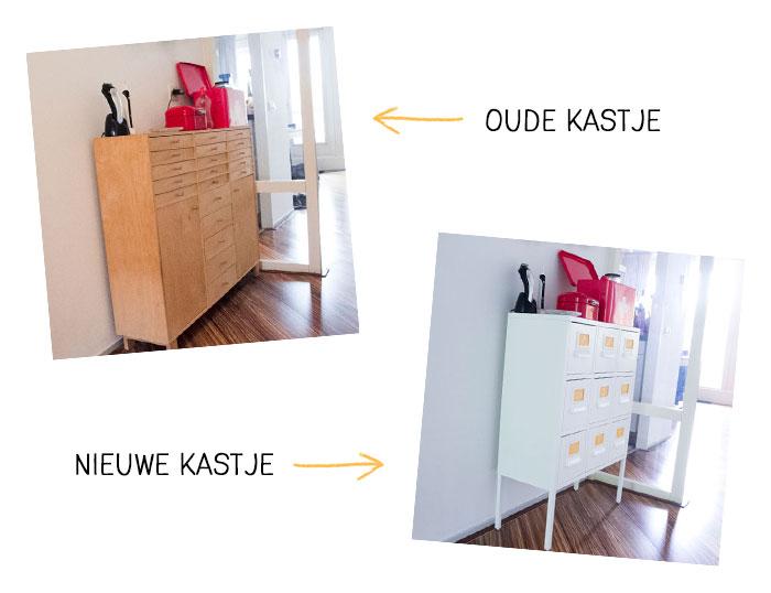 Hét nieuwe Ikea kastje voor in de hal
