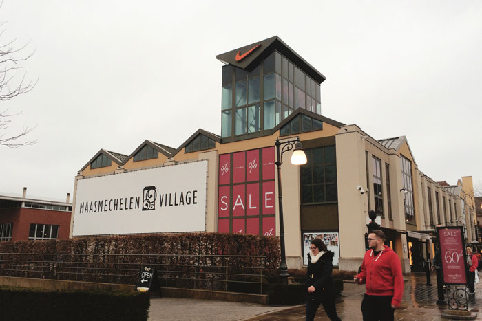 De designer outlet in Maasmechelen