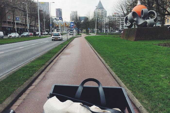 Op de fiets door Rotterdam lanterfanten