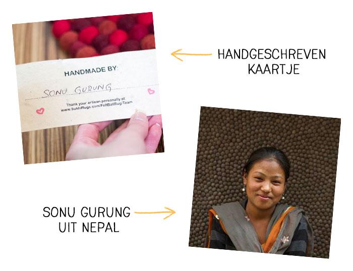 Met liefde gemaakt; Bolletjeskleed uit Nepal