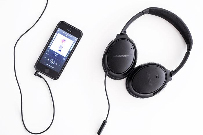 Bose QuietComfort; Muziek zonder omgevingsgeluiden