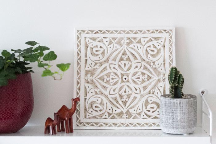 Marokkaanse souvenirs in de nieuwe pocket kast