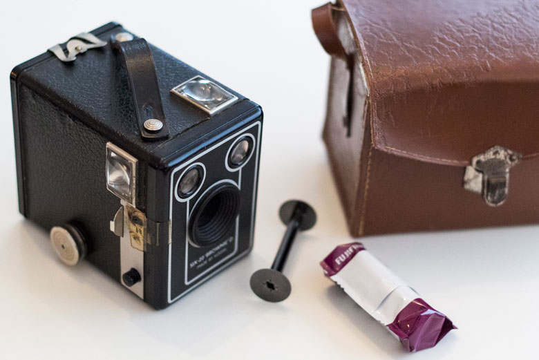 De eerste beelden van mijn analoge Kodak Brownie