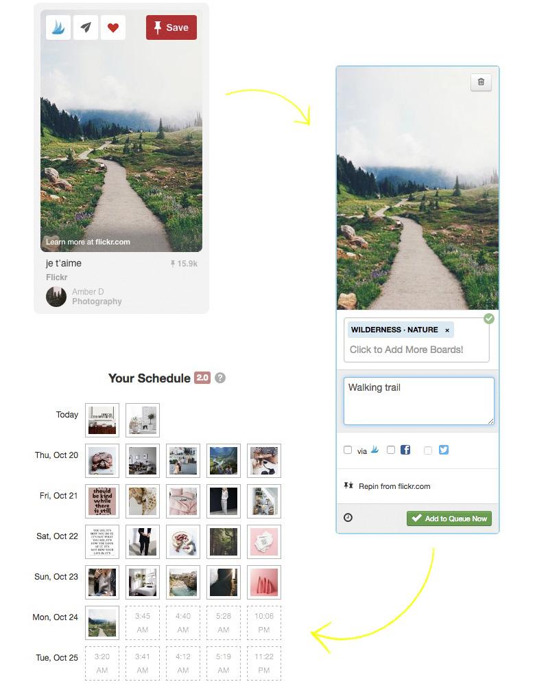 Pins inplannen op Pinterest; Tool Tailwind