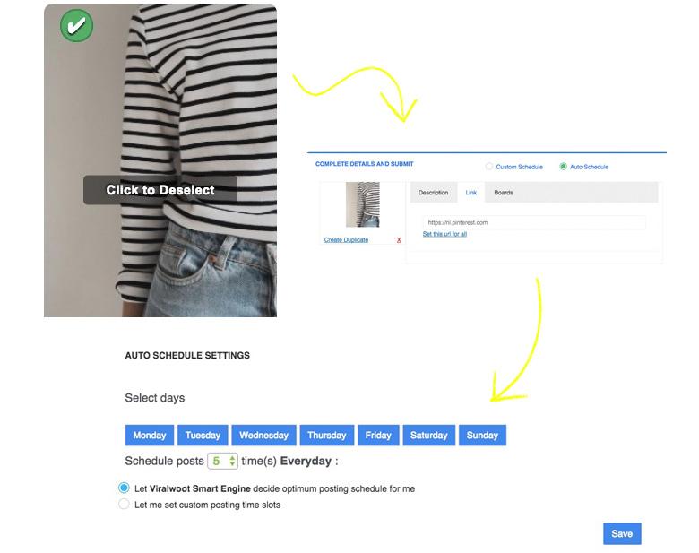 Pins inplannen op Pinterest; Tool Viralwoot