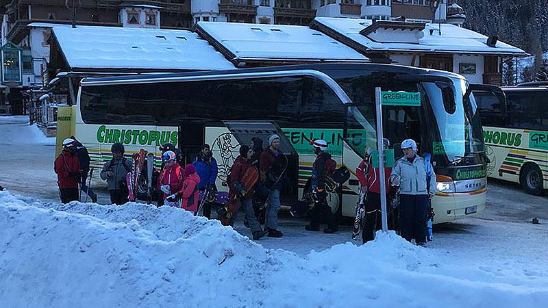 Green Line bus van Mayrhofen naar Hintertux